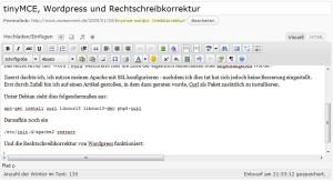 Wordpress 2.7 Rechtschreibkorrektur
